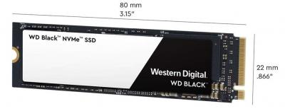 Western Digital SSD M.2 PCIe 500GB Black NVMe