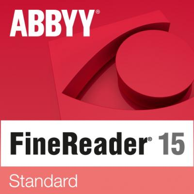 ABBYY FineReader 15 Standard Single User License (ESD) 6 mesiacov 31 - 50 licencií